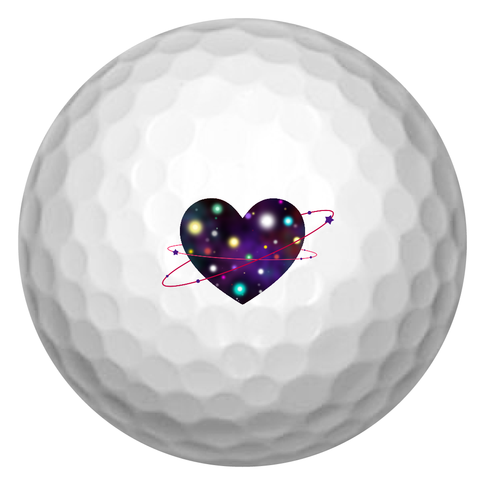 ハート 宇宙 ゴルフボール(3個セット) ゴルフボール(3個セット)