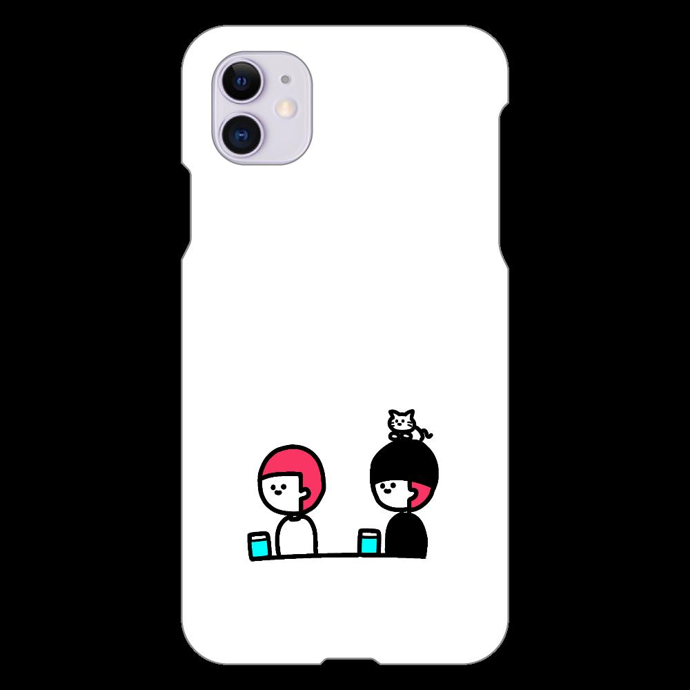 牛丼を待つ1人と2匹 iPhone 11(白)