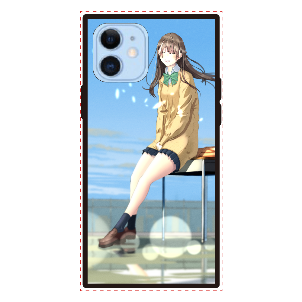 iPhone12/12 Pro_「君の笑顔」 iPhone12/12pro 背面強化ガラス(スクエア)