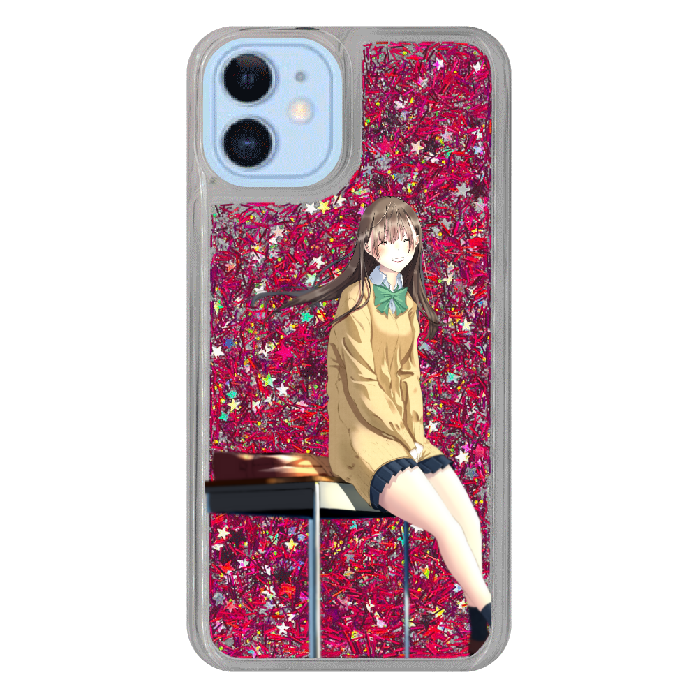 iPhone12/12 Pro_「君の笑顔(キャラ)」 iPhone12/12pro グリッターケース