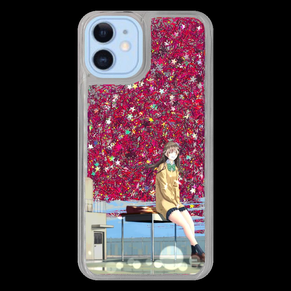 iPhone12/12 Pro_「君の笑顔(空なし)」 iPhone12/12pro グリッターケース