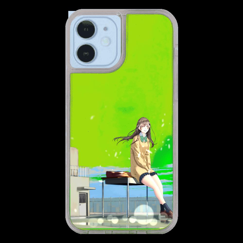 iPhone12/12 Pro_「君の笑顔(空なし)」 iPhone12/12pro ネオンサンドケース