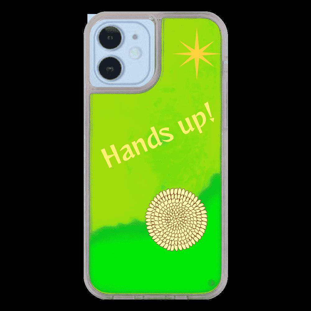 iPhone 12/12Proケース Hands up! iPhone12/12pro ネオンサンドケース