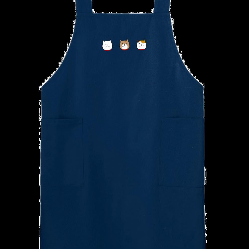 猫3トリオ(全6色) H型エプロン