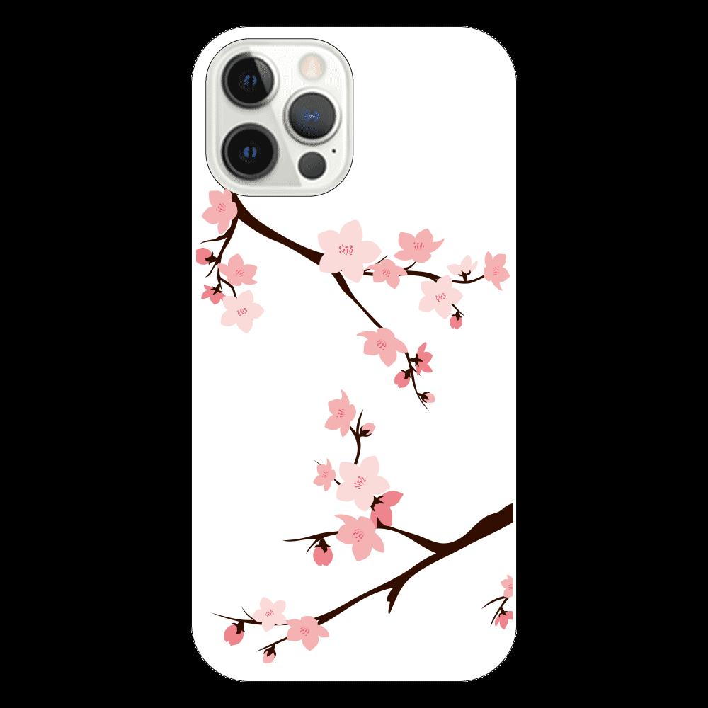iPhone12Pro ケース 桜 iPhone12 Pro(透明)
