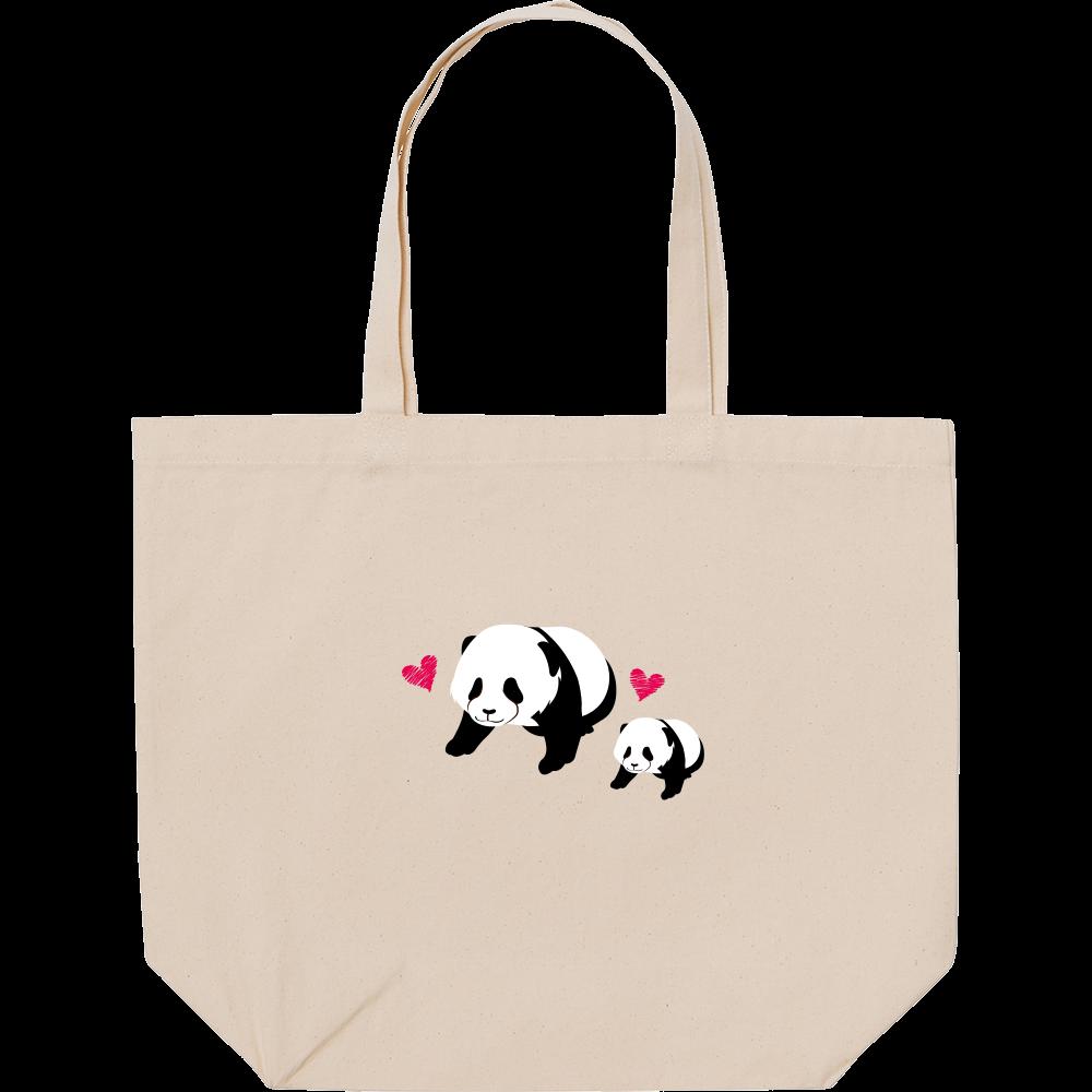 パンダの親子 スタンダードキャンバストートバッグ(L)