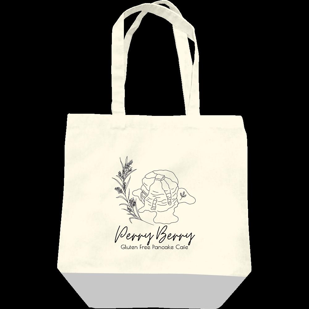 Perry Berry 手書き風パンケーキ モノクロ キャンバストートバッグ(M) レギュラーキャンバストートバッグ(M)