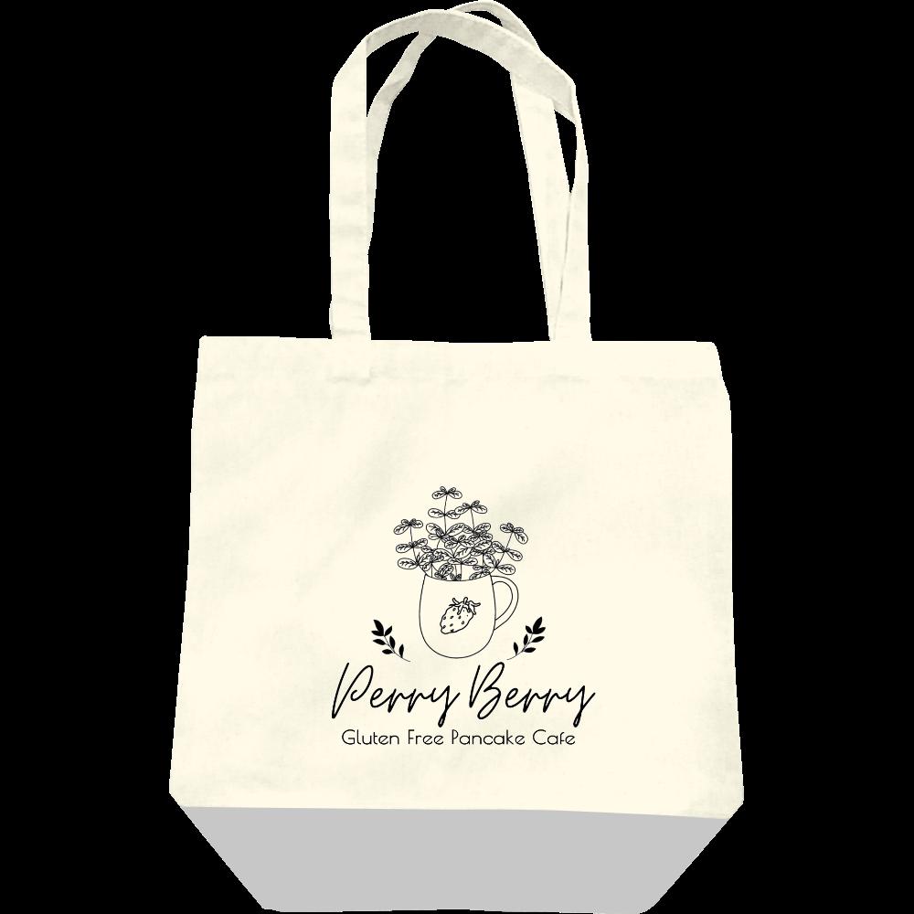 Perry Berry 手書き風カップ モノクロ キャンバストートバッグ(M) レギュラーキャンバストートバッグ(M)