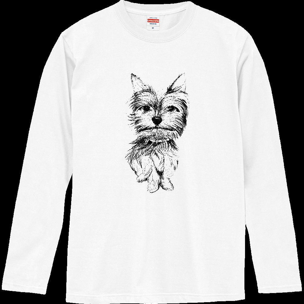 ヨークシャテリア02  ロングスリーブTシャツ