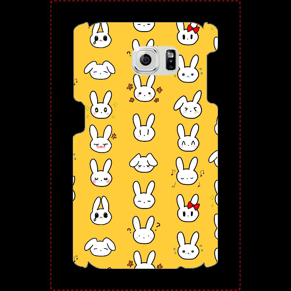 ドット柄うさぎ Galaxy S6(SC-05G)