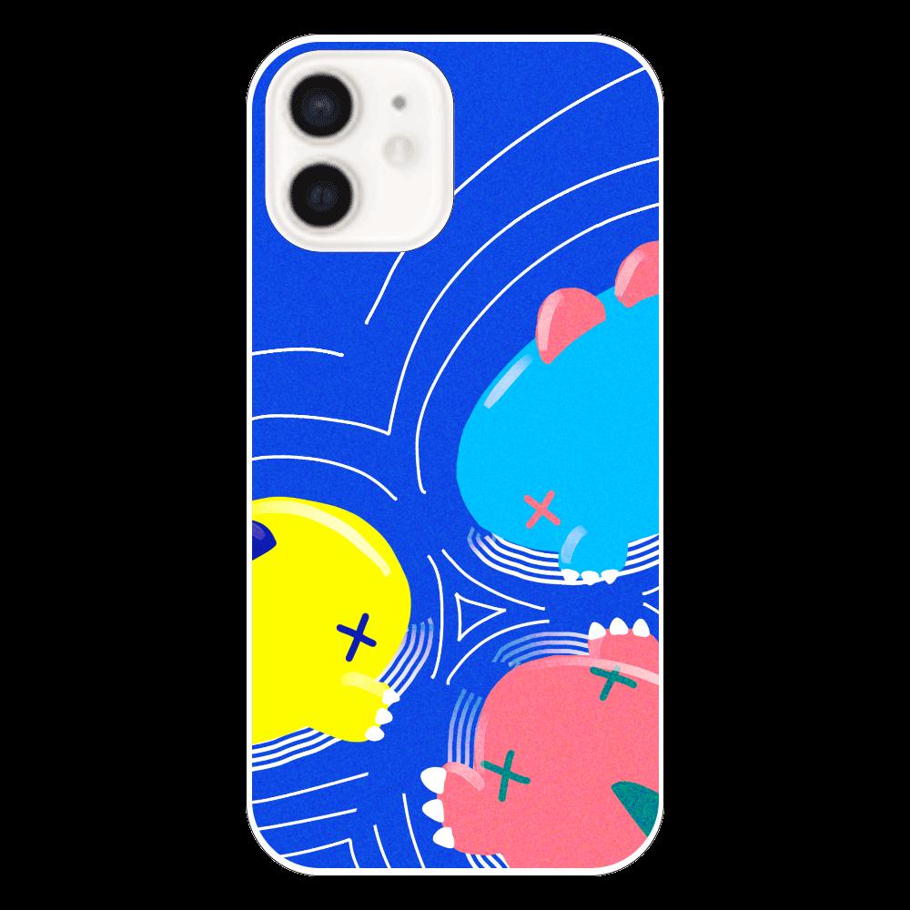もちもち恐竜ペケさん【井戸端】 iPhone12(透明)
