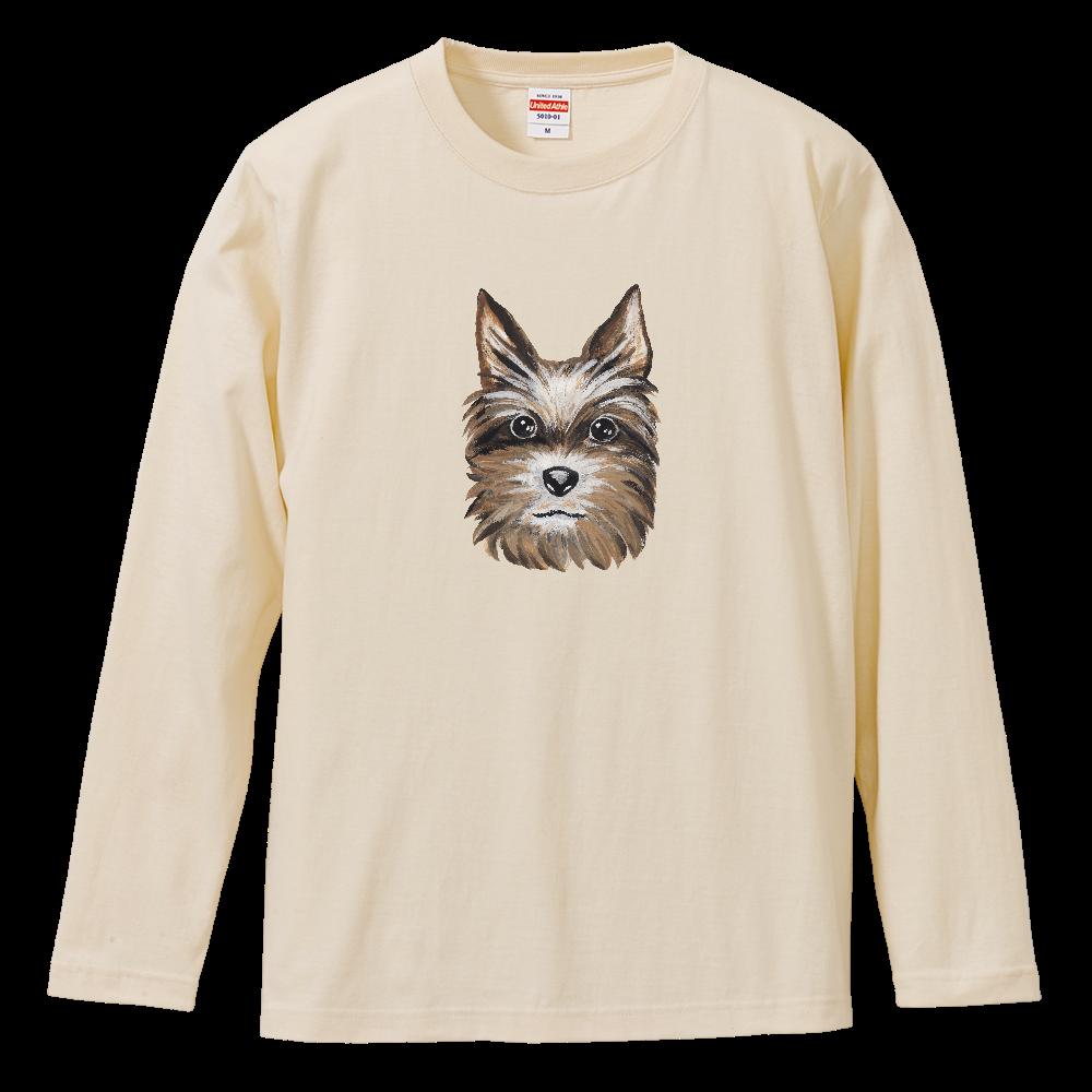 ヨークシャテリア01 ロングスリーブTシャツ