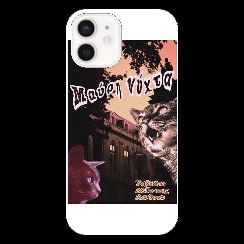 iPhone12(透明) クリア ヴィンテージポスター風 ネコ iPhone12(透明)