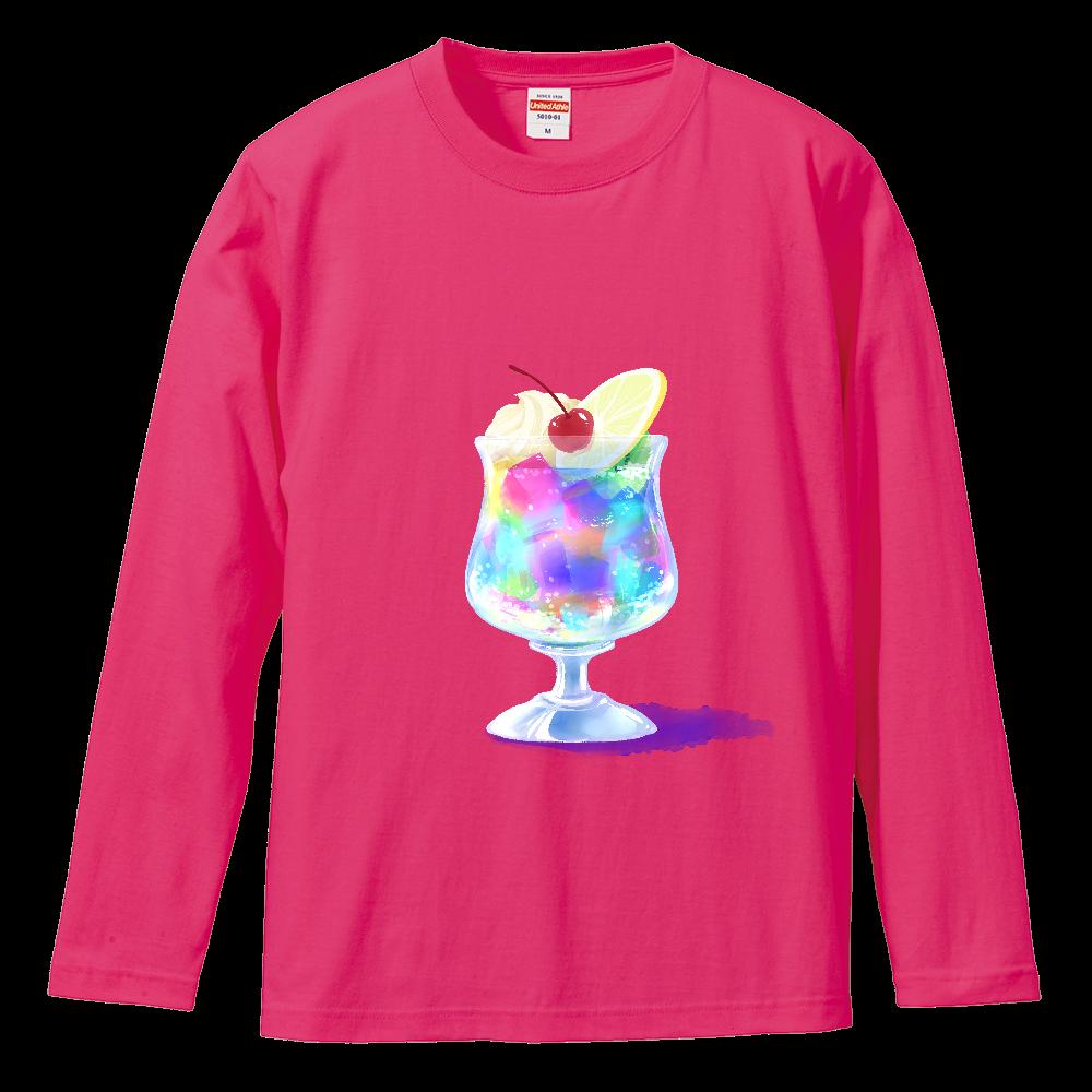 純喫茶ブルーラビット ゼリーポンチ長袖Tシャツ ロングスリーブTシャツ