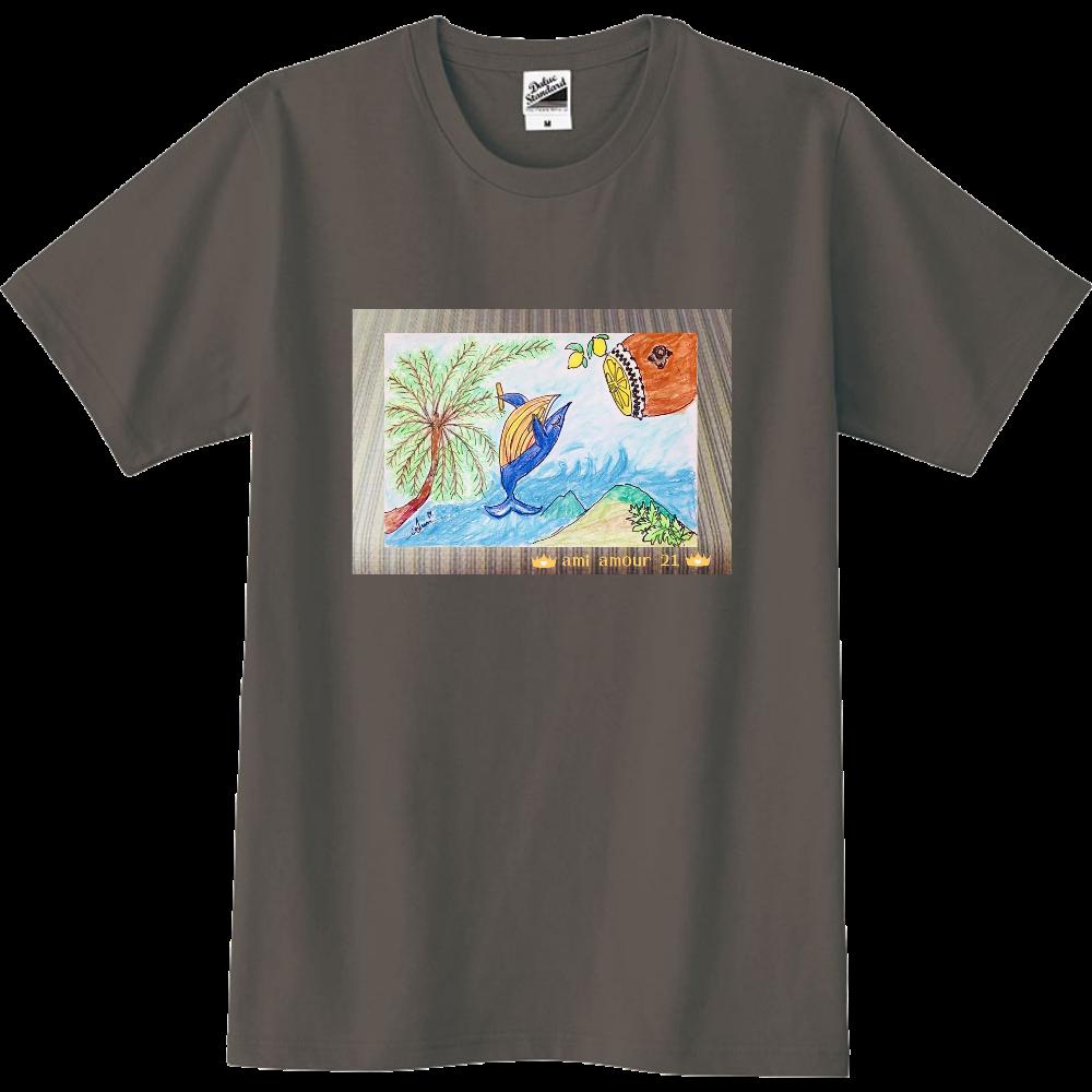 『黄八丈吠え~る(Whale)ちゃん』 スリムTシャツ