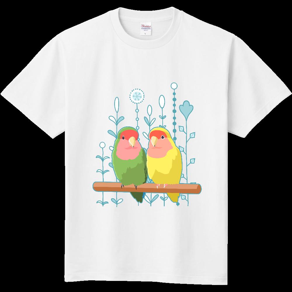コザクラインコノーマルルチノー(線水色) 定番Tシャツ