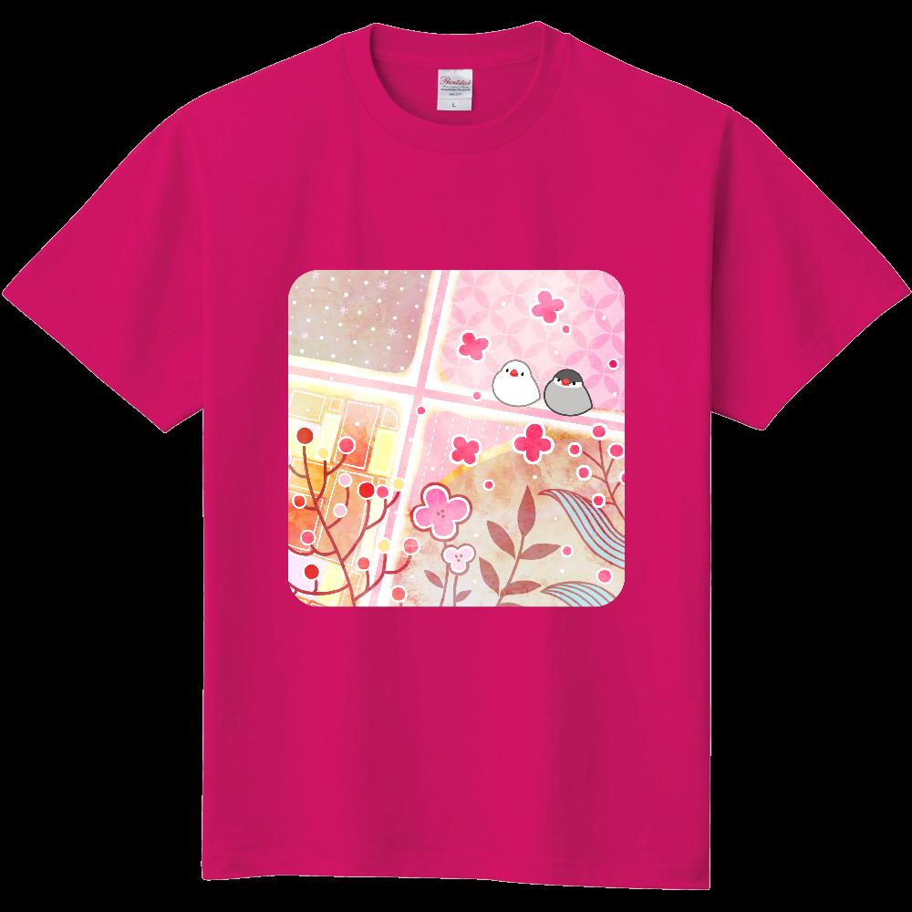 文鳥と春Tシャツ 定番Tシャツ