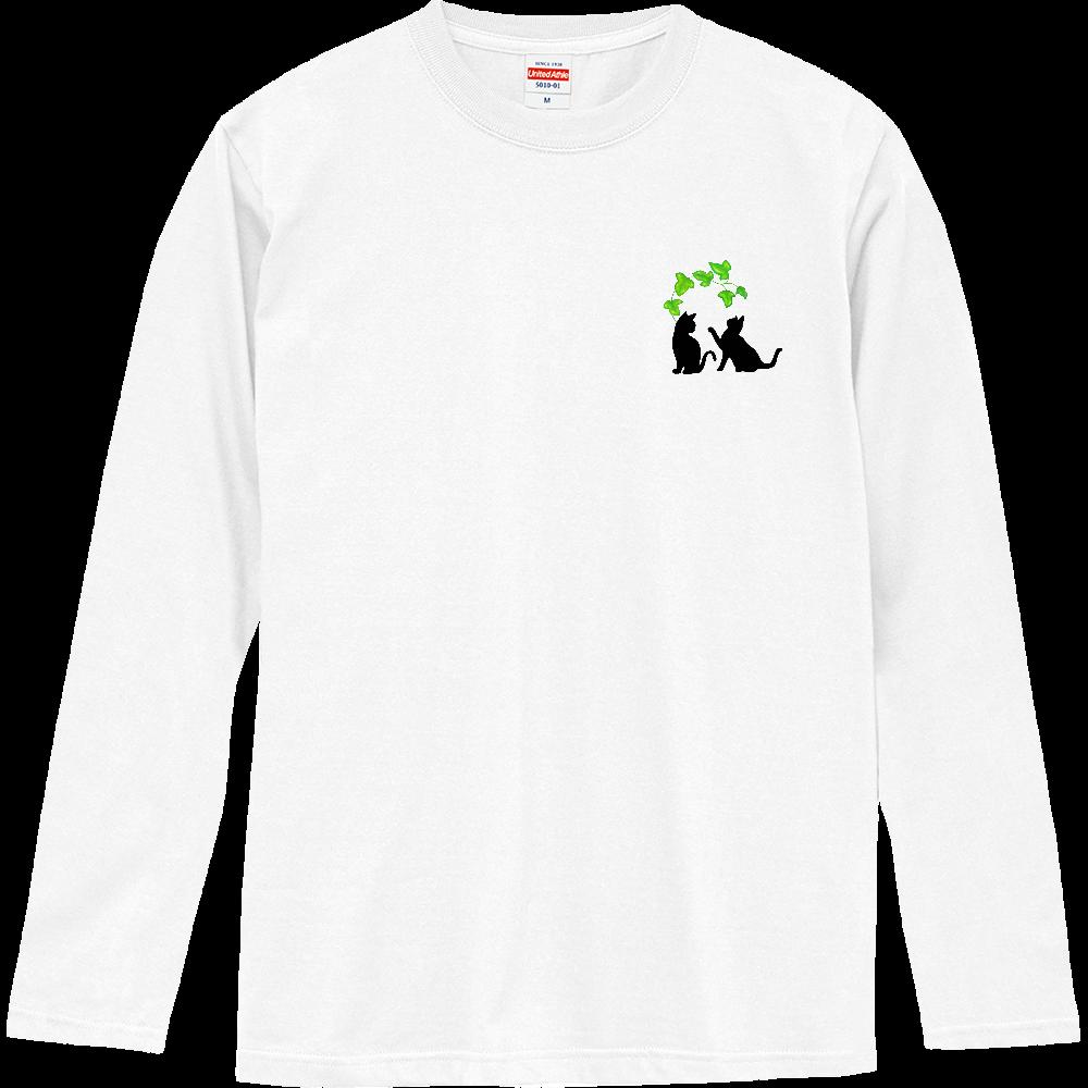 仲良し子猫 ロングスリーブTシャツ ロングスリーブTシャツ