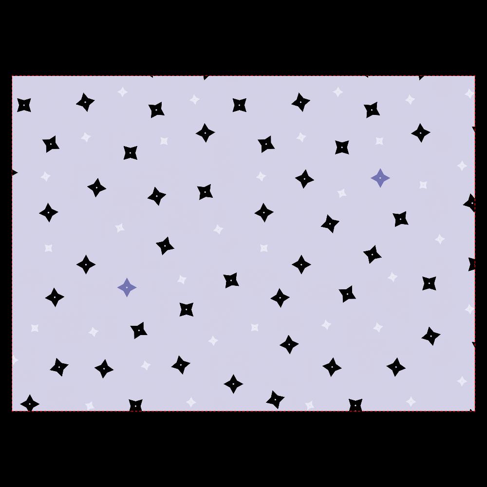 手裏剣・黒青 タブレットケース タブレットケース汎用Mサイズ