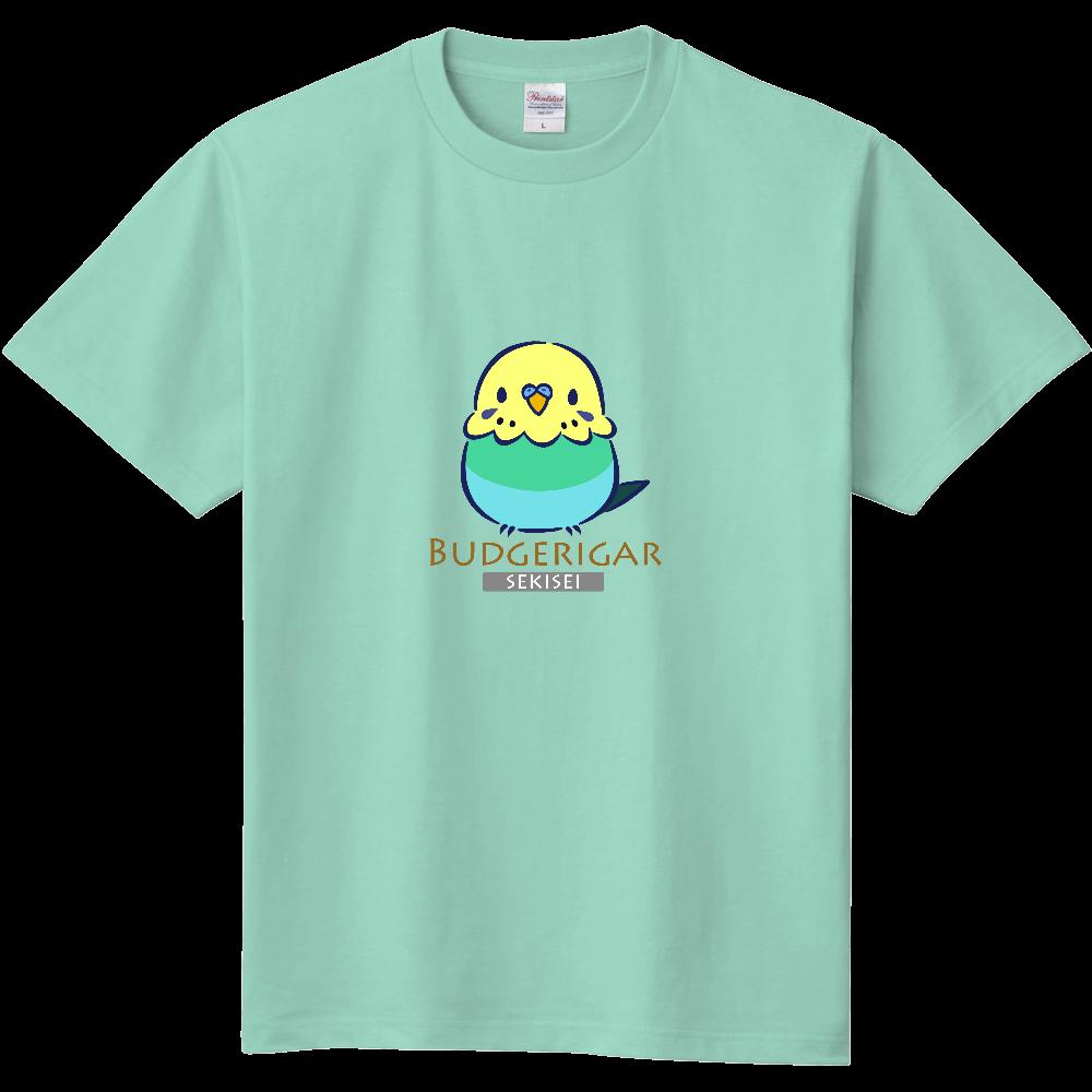パステルカラーレインボーセキセイインコのTシャツ 定番Tシャツ
