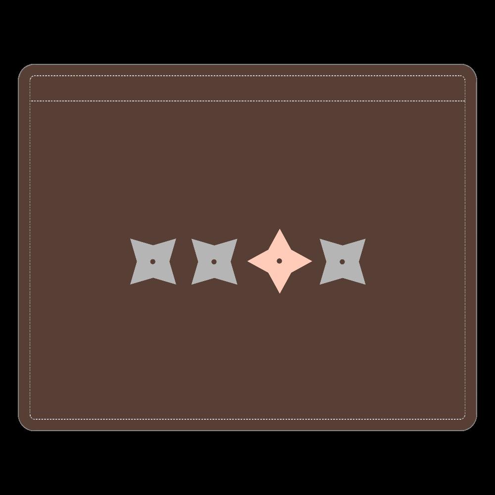 手裏剣・灰桃 レザーIDカードホルダー レザーIDカードホルダー(ネックストラップ付)