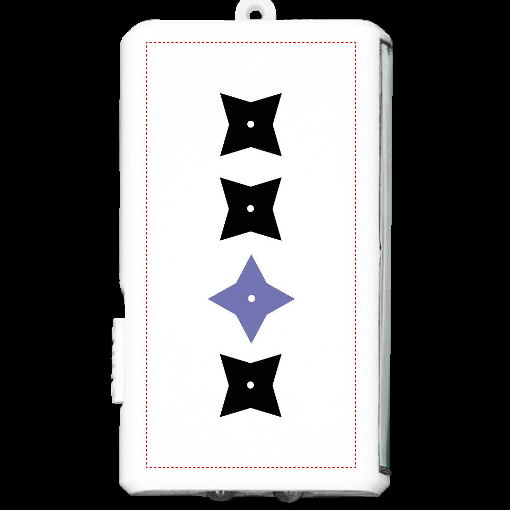 手裏剣・黒青 フラットライト オリジナルフラットライト(カラビナ付)