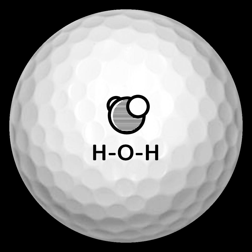 水分子 ゴルフボール(3個セット) ゴルフボール(3個セット)