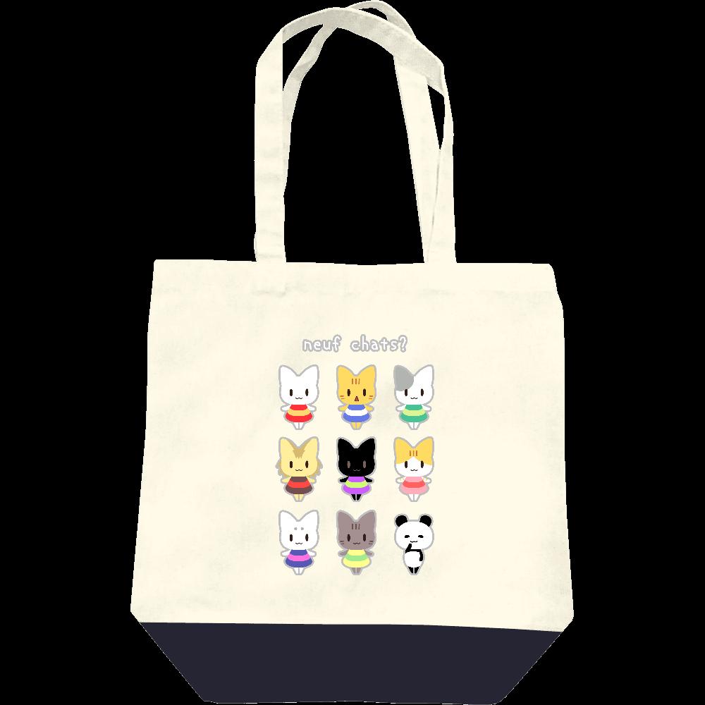 9匹の猫?トートバッグ レギュラーキャンバストートバッグ(M)