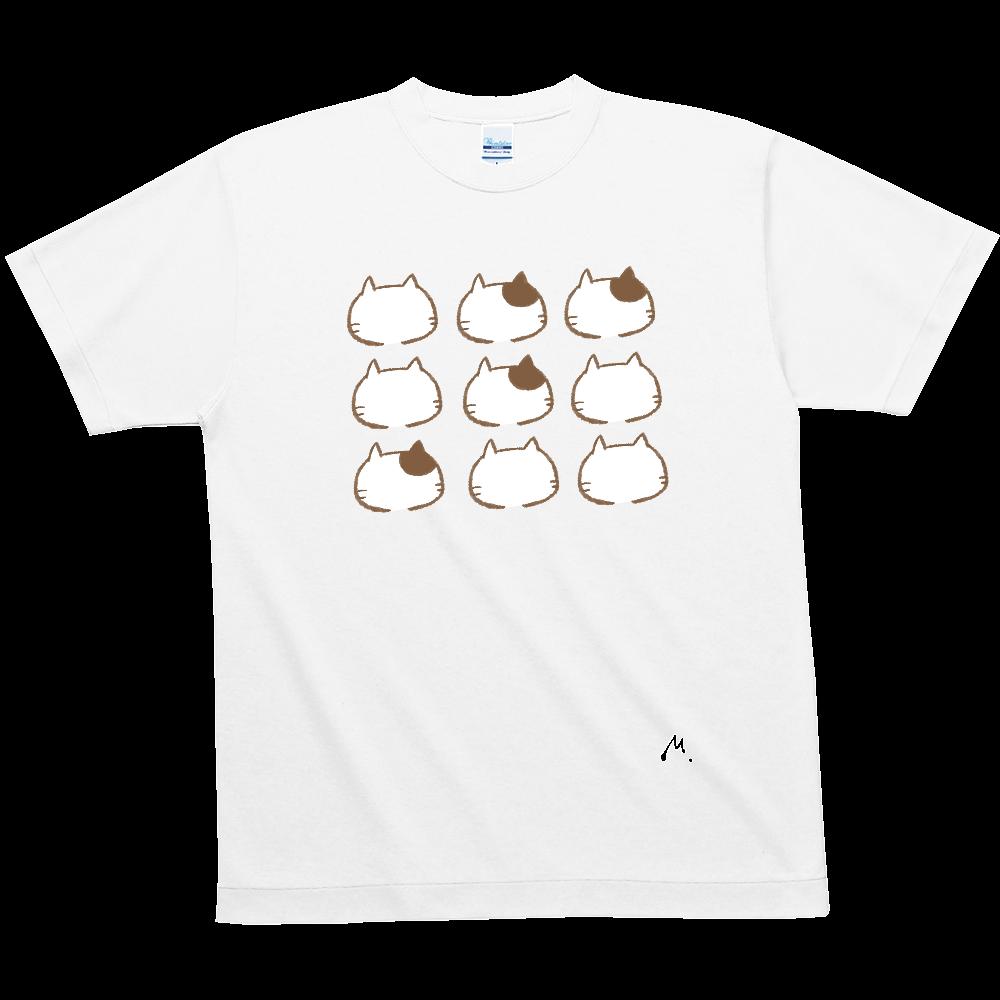猫の整列 ハニカムメッシュTシャツ