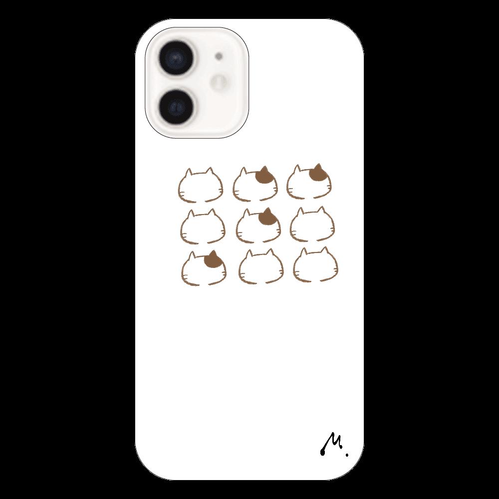 猫の整列 iPhone12(透明)