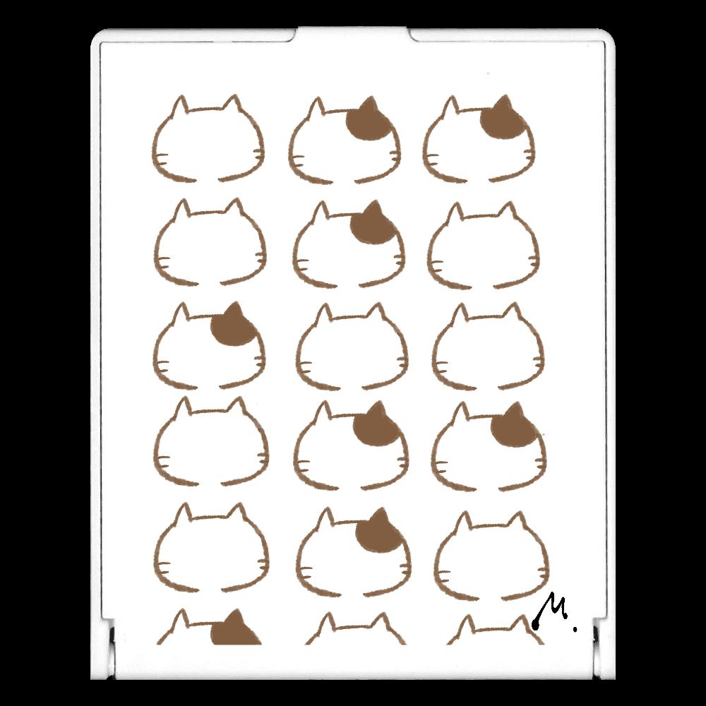 猫の整列 スクエアミラー