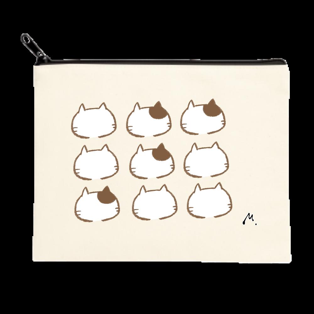 猫の整列 ポーチ(M)