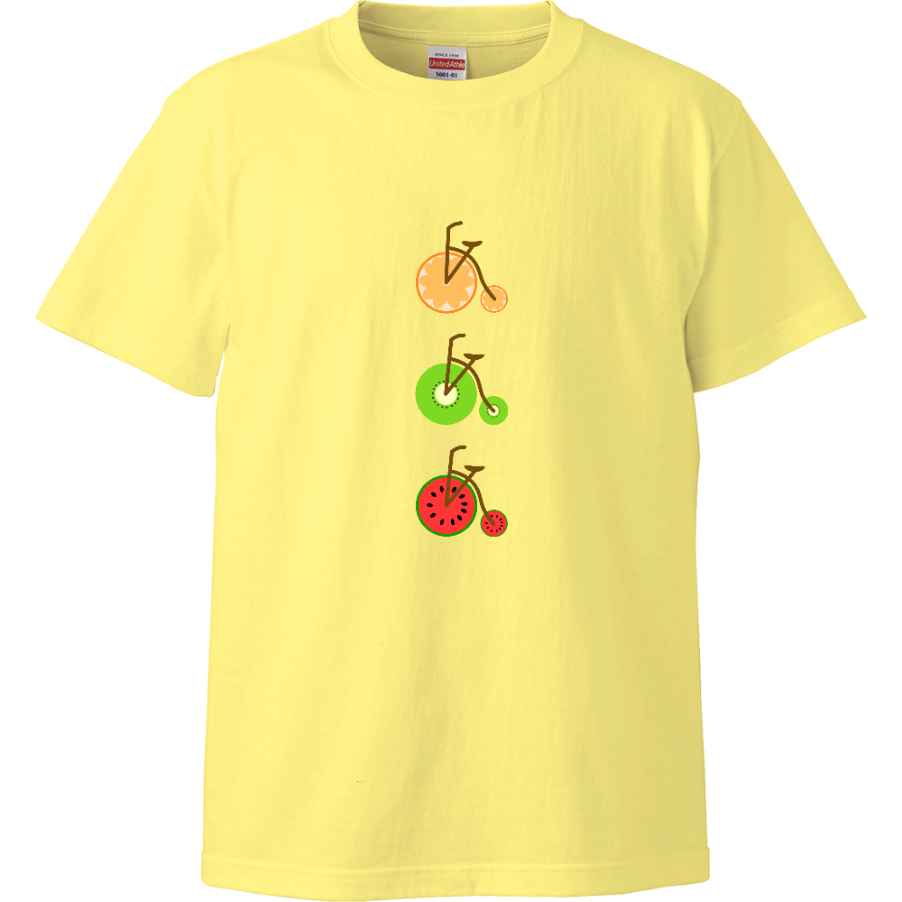フルーツ自転車 ハイクオリティーTシャツ