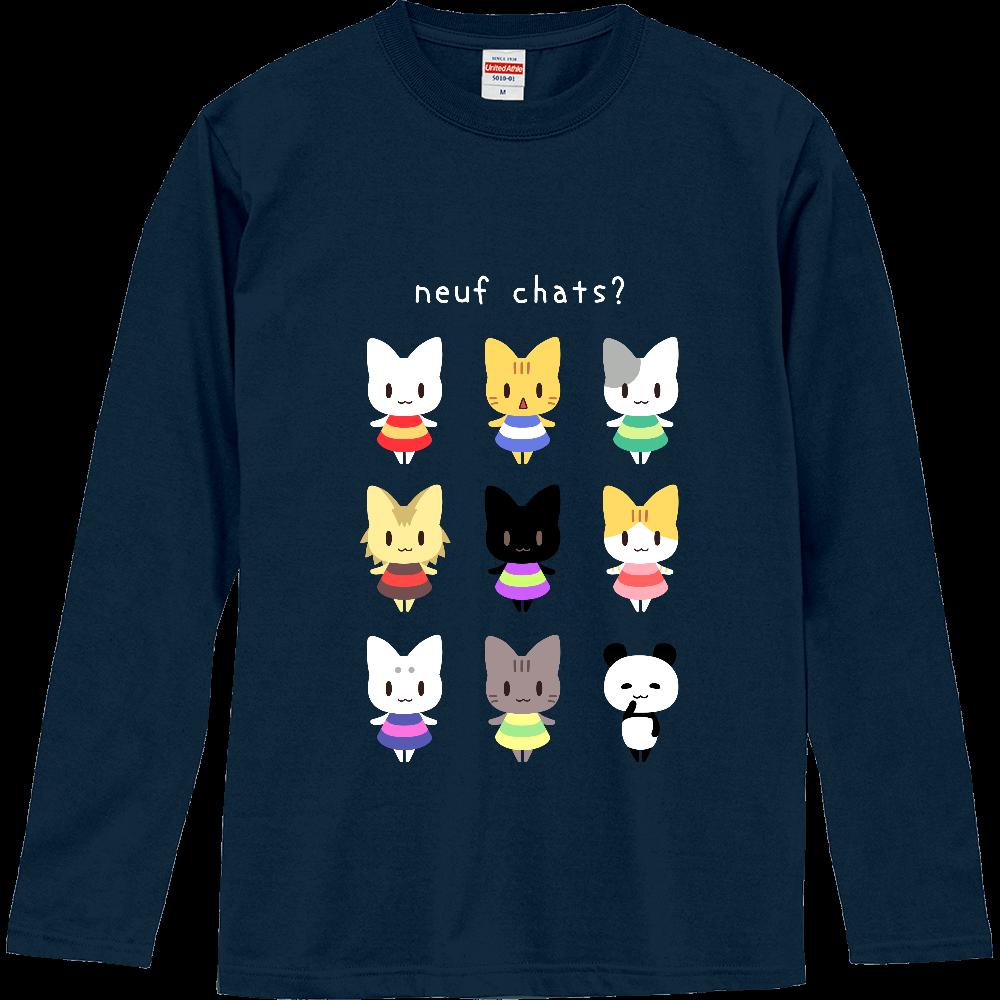 9匹の猫?長袖Tシャツ ロングスリーブTシャツ