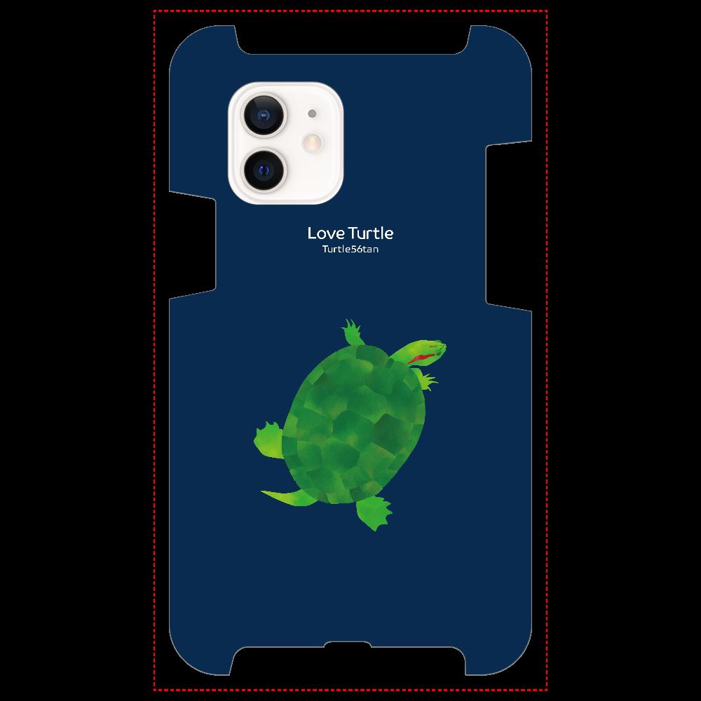 Love Turtle TypeB ネイビー iPhone12 / 12 Pro