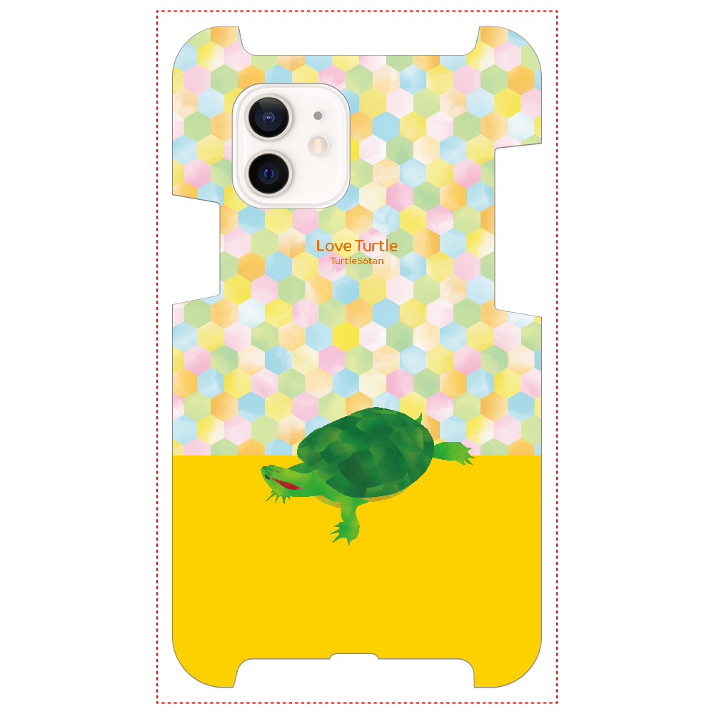 Love Turtle TypeA ツートン イエロー iPhone12 / 12 Pro