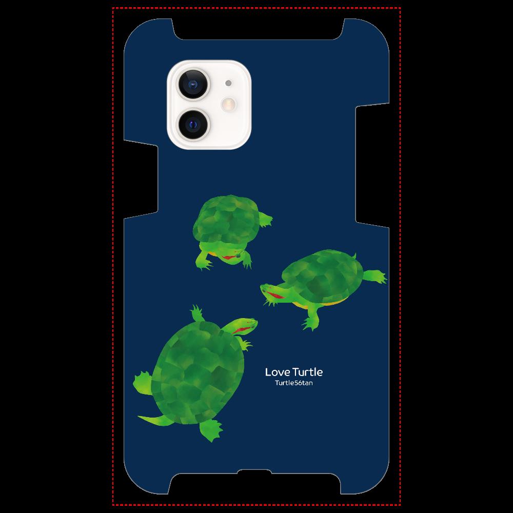 Love Turtle 集合 ネイビー iPhone12 / 12 Pro