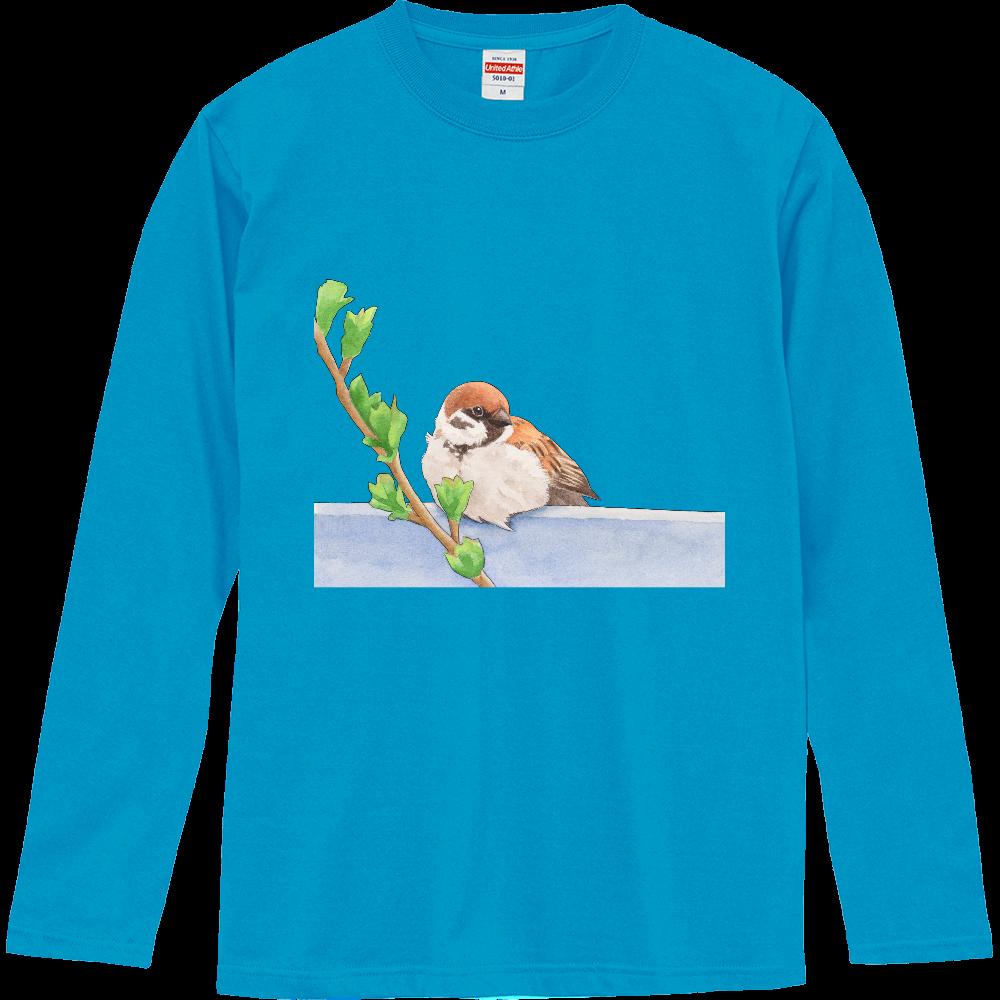 スズメの長袖Tシャツ ロングスリーブTシャツ
