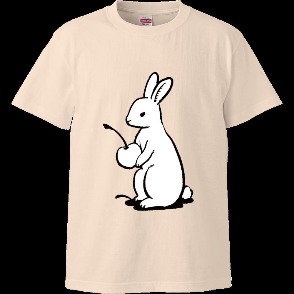 純喫茶ブルーラビット ブルラビオーナー(白)ハイクオリティTシャツ ハイクオリティーTシャツ