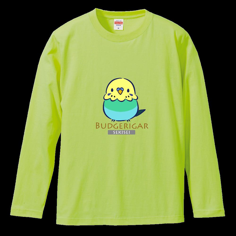 セキセイインコの長袖Tシャツ ロングスリーブTシャツ