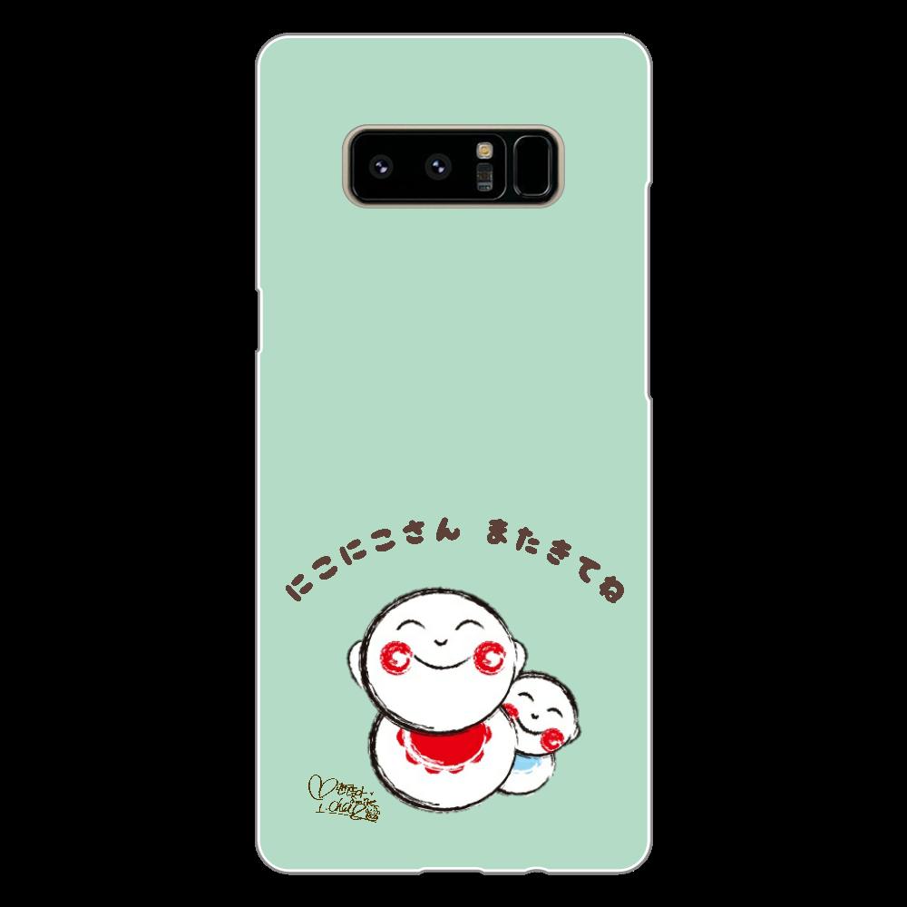にこにこさん Aタイプ スマホケース Android Galaxy Note8(白)