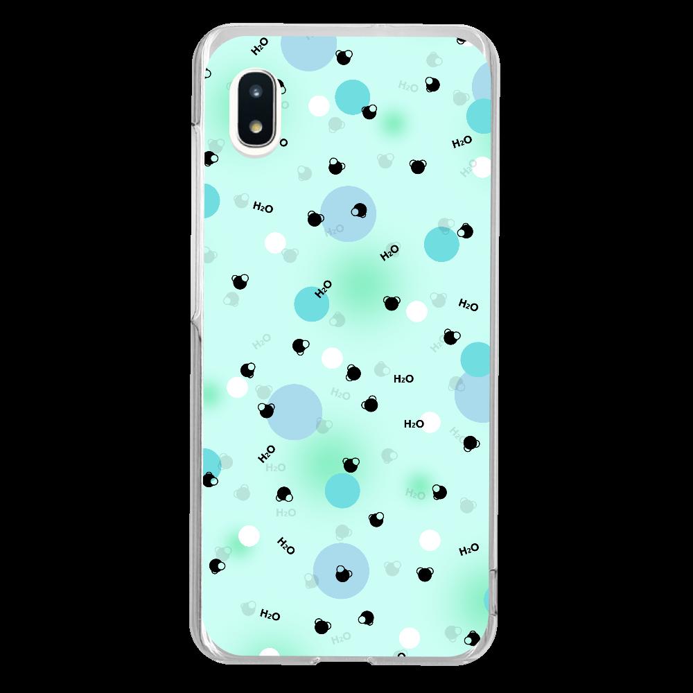 水分子 Androidケース Xperia 1 Galaxy A20 (SC-02M/SCV46) ハードクリアケース Galaxy A20 (SC-02M/SCV46) ハードクリアケース
