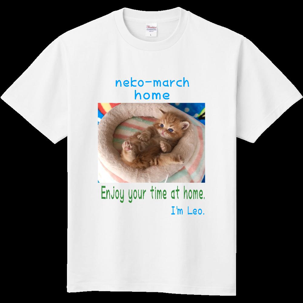 ねこまーちhomeレオスタイルTシャツ 定番Tシャツ