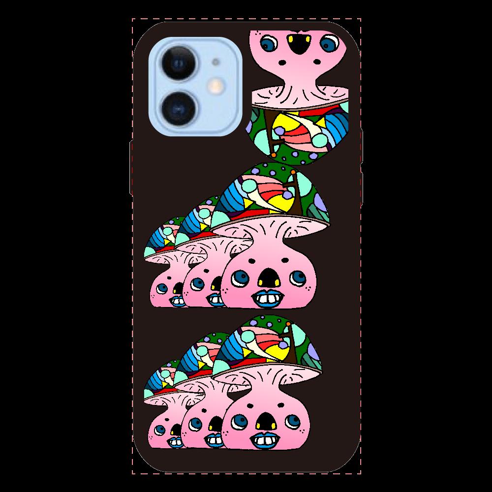 カラクリ茸 iPhone12/12Proクリアパネルラバーケース