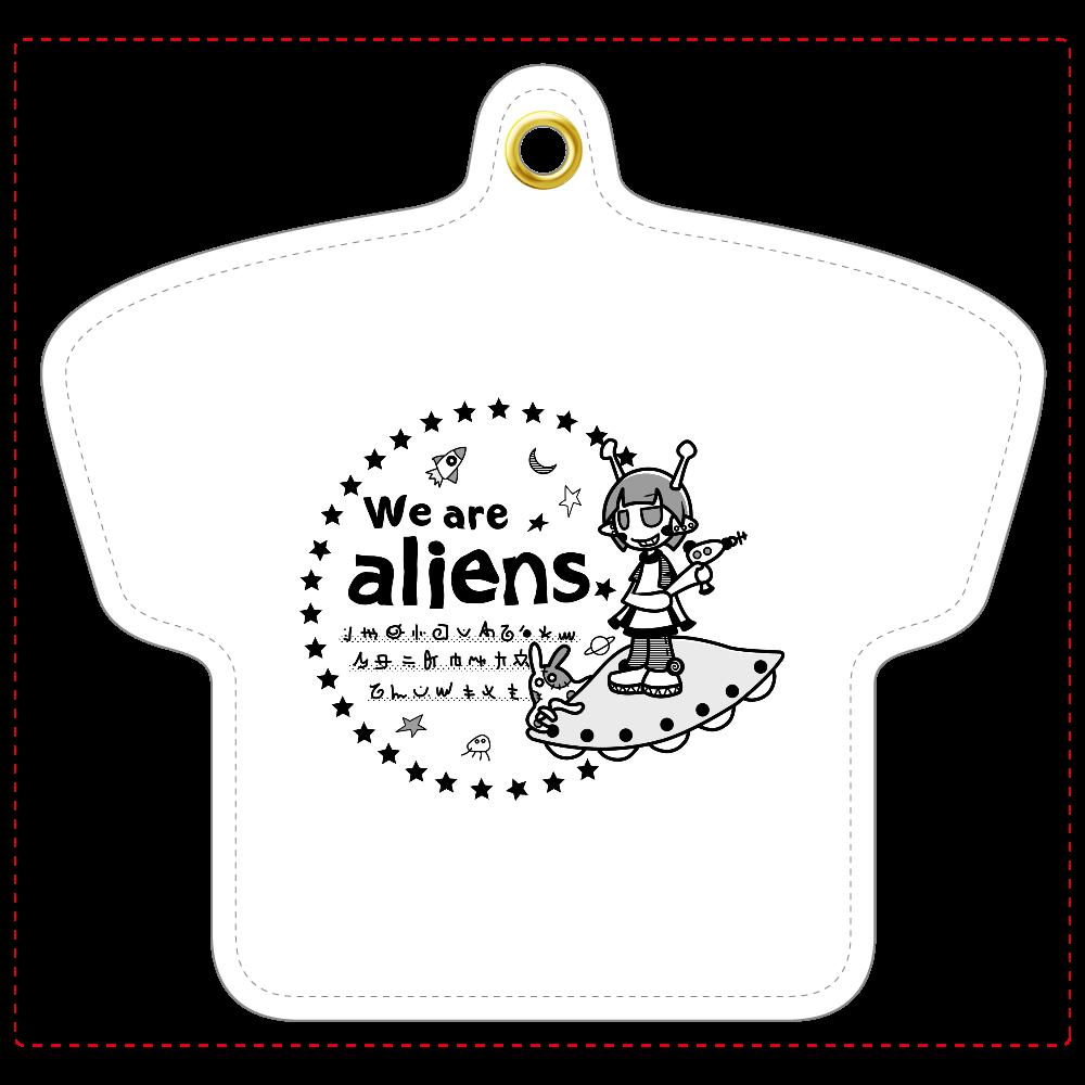 我々は宇宙人だ レザーキーホルダー(Tシャツ型) レザーキーホルダー(Tシャツ型)