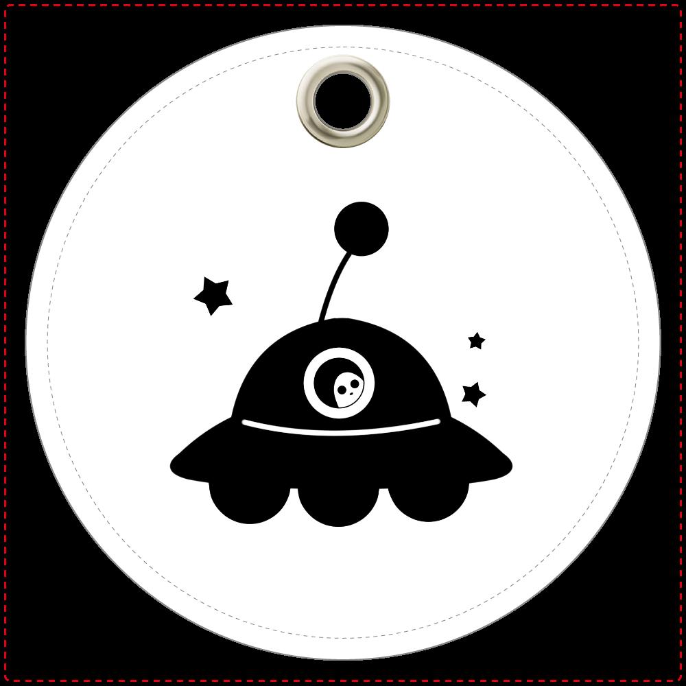 UFO レザーキーホルダー レザーキーホルダー(丸型)