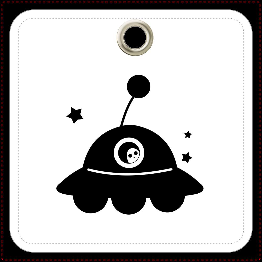 UFO レザーキーホルダー レザーキーホルダー(四角型)