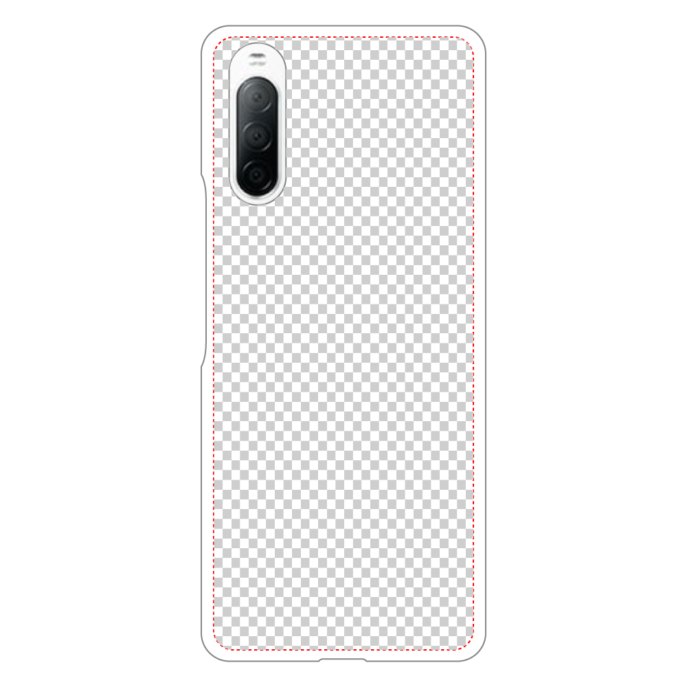 透過 Androidケース Xperia 10 II用ハードホワイトケース Xperia 10 II用ハードホワイトケース