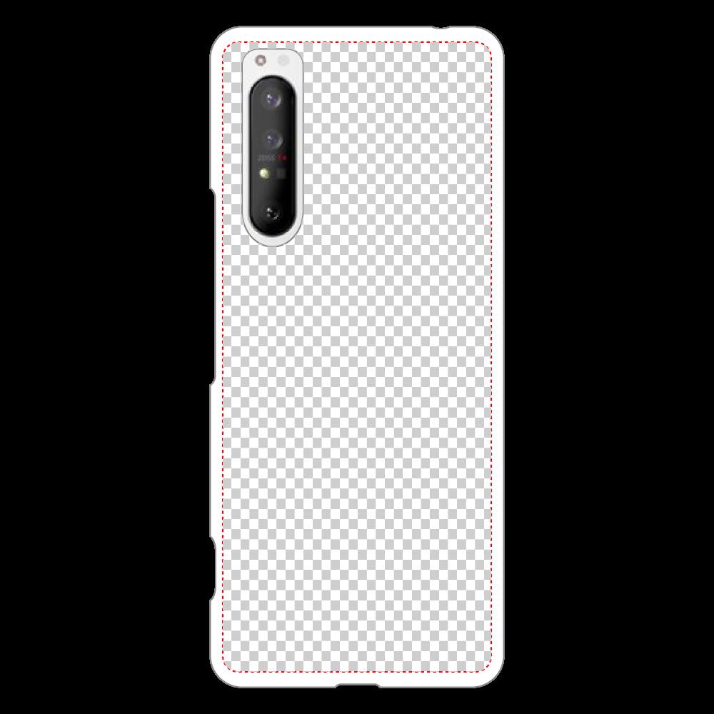 透過 Androidケース Xperia 1 II用ハードホワイトケース Xperia 1 II用ハードホワイトケース