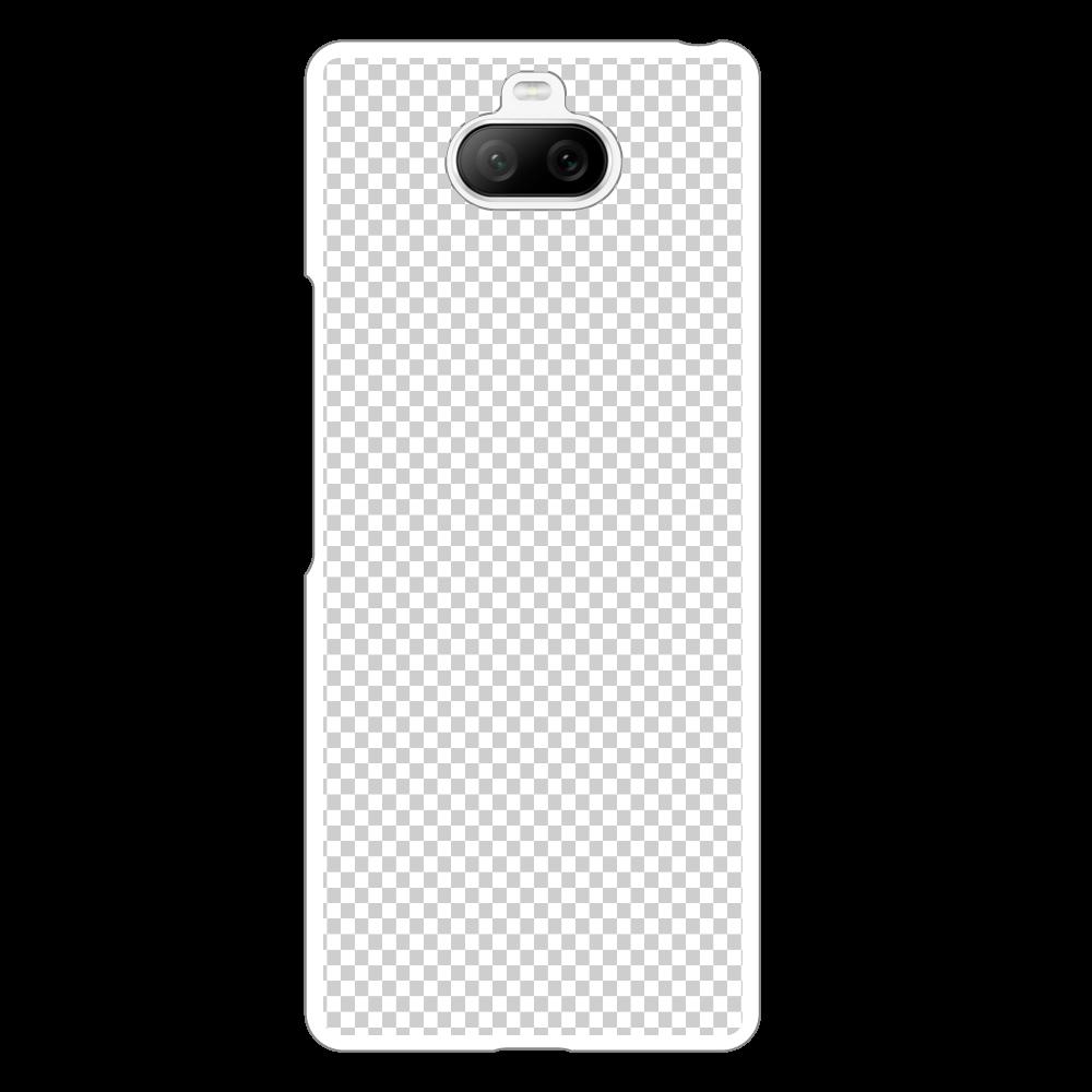 透過 Androidケース Xperia 8用ハードホワイトケース Xperia 8用ハードホワイトケース